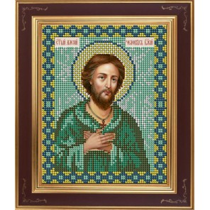 Алексий человек Божий Комплект для вышивания бисером Икона GALLA COLLECTION