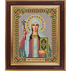 Св. Нина Комплект для вышивания бисером Икона GALLA COLLECTION
