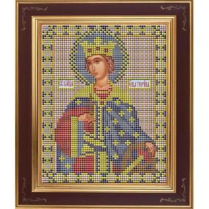 Св. Екатерина Комплект для вышивания бисером Икона GALLA COLLECTION