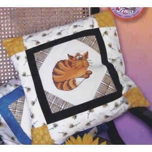 Уютный кот Набор для вышивания, наволочка для подушки МАРЬЯ ИСКУСНИЦА