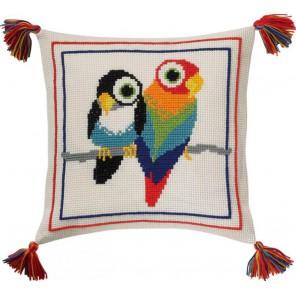 Птицы Набор для вышивания подушки PERMIN