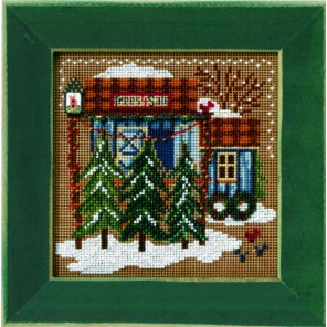 Зимний дом Набор для вышивания MILL HILL