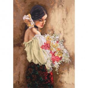 Женщина с букетом Набор для вышивания Dimensions ( Дименшенс )