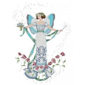 Апрельский голубой бриллиант Схема для вышивания MIRABILIA