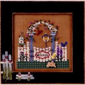 Сад с цветочной шпалерой Набор для вышивания MILL HILL
