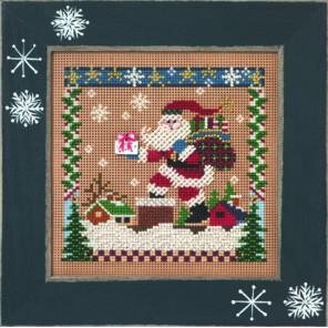 Санта на крыше Набор для вышивания MILL HILL