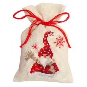 Санта с шарфом Набор для вышивания мешочка VERVACO