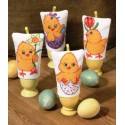 Цыплята Набор для вышивания грелки для яиц декоративная PERMIN