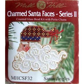 Санта с колокольчиками Набор для вышивания бисером MILL HILL