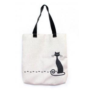 Черная кошка Набор для шитья и вышивания, текстильная сумка МАТРЕНИН ПОСАД