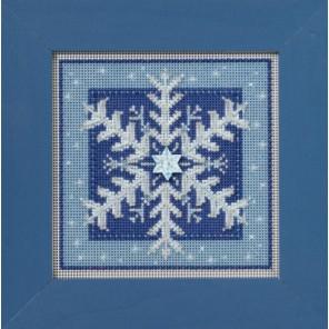 Кристальная снежинка Набор для вышивания бисером MILL HILL