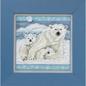 Белые медведи Набор для вышивания MILL HILL