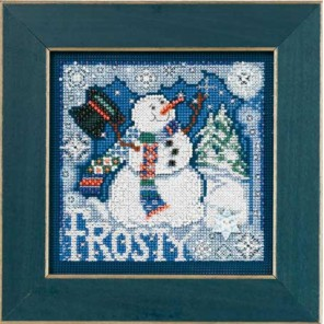 Снеговик Набор для вышивания MILL HILL