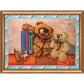 Игрушки 4 Набор для вышивки бисером на натуральном художественном холсте АБРИС АРТ