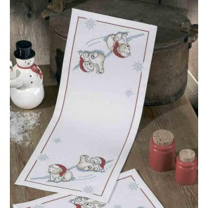 Белые медведи Набор для вышивания дорожки PERMIN