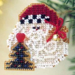 Санта с колокольчиком Набор для вышивания бисером MILL HILL
