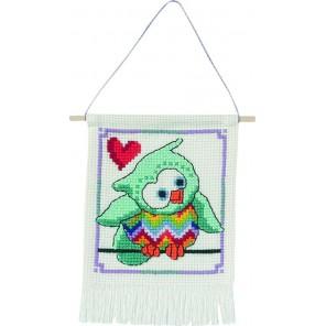 Бирюзовая сова Набор для вышивания PERMIN