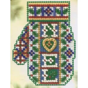 Рождественское сердечко Набор для вышивания MILL HILL