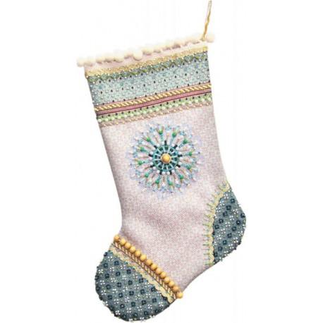 Морозный узор Набор для шитья и вышивания, сувенирная продукция - носочек МАТРЕНИН ПОСАД