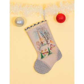 Первый снег Набор для шитья и вышивания, сувенирная продукция - носочек МАТРЕНИН ПОСАД