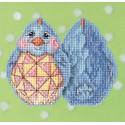 Голубой цыпленок Набор для вышивания MILL HILL