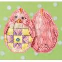 Розовый цыпленок Набор для вышивания MILL HILL