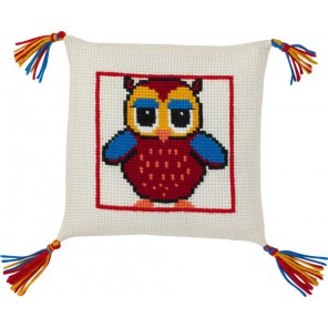 Сова Набор для вышивания подушки PERMIN
