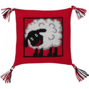 Овечка Набор для вышивания подушки PERMIN