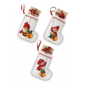 Рождественские носки Набор для вышивания сапожка для подарков PERMIN