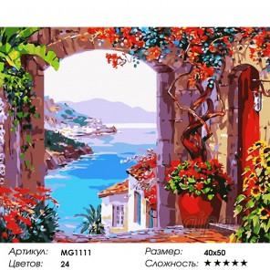 Количество цветов и сложность Вид на залив Раскраска (картина) по номерам на холсте Menglei MG1111