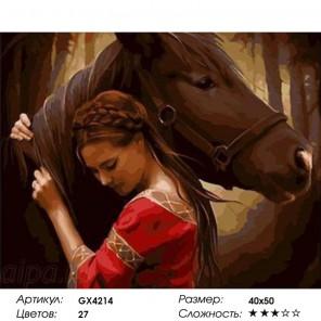 Сложность и количество цветов  Верный Раскраска картина по номерам на холсте GX4214