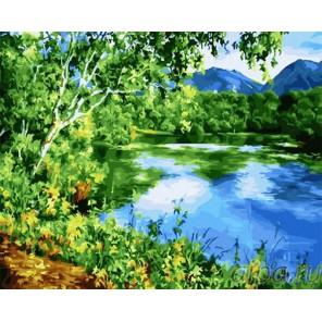 Над тихою рекой Раскраска картина по номерам на холсте GX24185