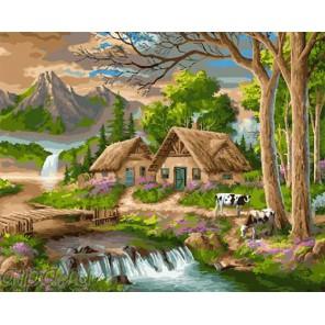 Горная деревушка Раскраска картина по номерам на холсте GX24199