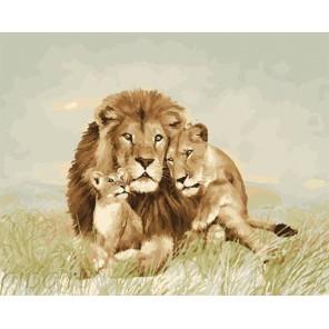 Под защитой льва Раскраска по номерам на холсте GX23803