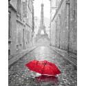 Парижский зонтик Раскраска по номерам на холсте GX23824