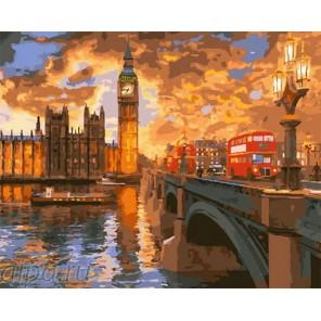 Лондонские закаты Раскраска по номерам на холсте GX23858