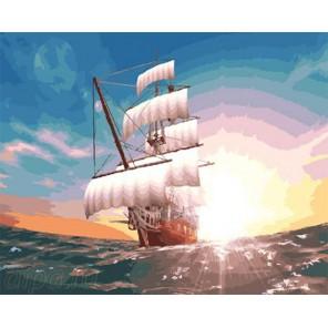 Рассветные паруса Раскраска по номерам на холсте GX23813
