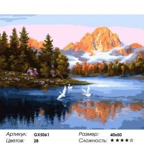 Сложность и количество красок Таинственное утро Раскраска по номерам на холсте GX5061