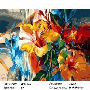 Яркие лилии Раскраска по номерам на холсте