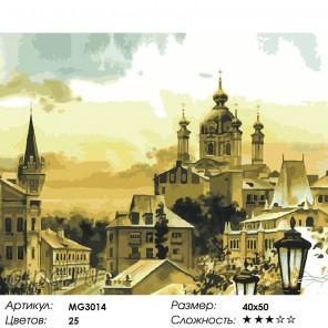 Андреевская церковь (художник Сергей Брандт)  Раскраска по номерам на холсте Menglei