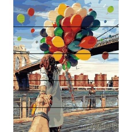 Следуй за мной. Бруклин Картина по номерам на дереве GXT4371