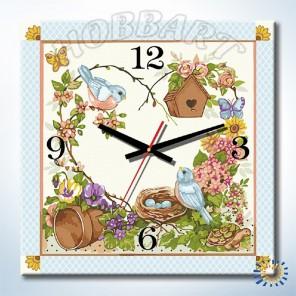 1_ Дачное время Часы-раскраска по номерам на холсте Hobbart