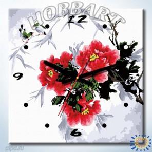 1_ Время цвести Часы-раскраска по номерам на холсте Hobbart
