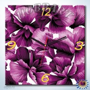 1_ Фиолетовое очарование Часы-раскраска по номерам на холсте Hobbart