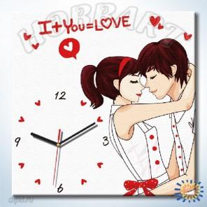 Взаимные чувства Часы-раскраска по номерам на холсте Hobbart