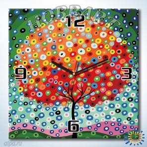 1_ Цветущее облако Часы-раскраска по номерам на холсте Hobbart