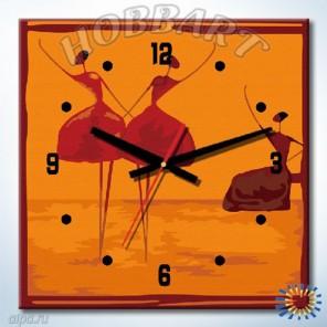 1_ Балеринки Часы-раскраска по номерам на холсте Hobbart