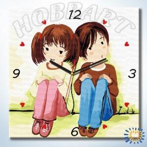 1_ МолодыеЧасы-раскраска по номерам на холсте Hobbart