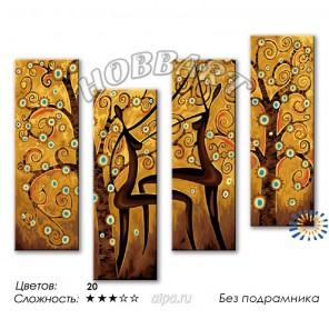1_ Танец лесных наяд Раскраска по номерам на холсте Hobbart