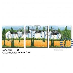 Количество цветов и сложность Городок в Провансе Раскраска по номерам на холсте Hobbart PH340120009-Lite